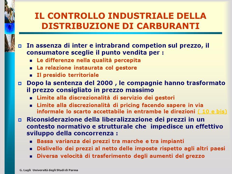 IL CONTROLLO INDUSTRIALE DELLA DISTRIBUZIONE DI CARBURANTI