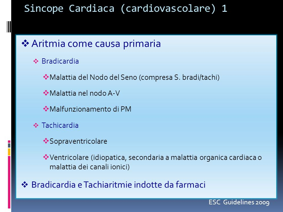 Sincope Cardiaca (cardiovascolare) 1