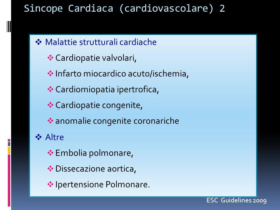Sincope Cardiaca (cardiovascolare) 2