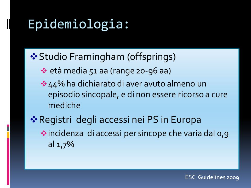 Epidemiologia: Studio Framingham (offsprings)