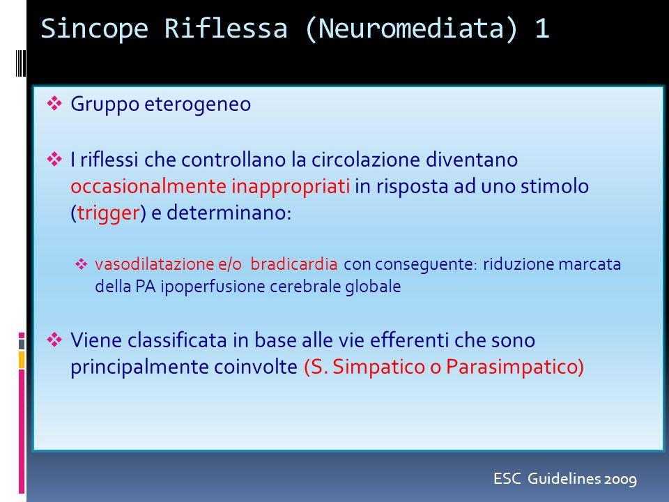 Sincope Riflessa (Neuromediata) 1