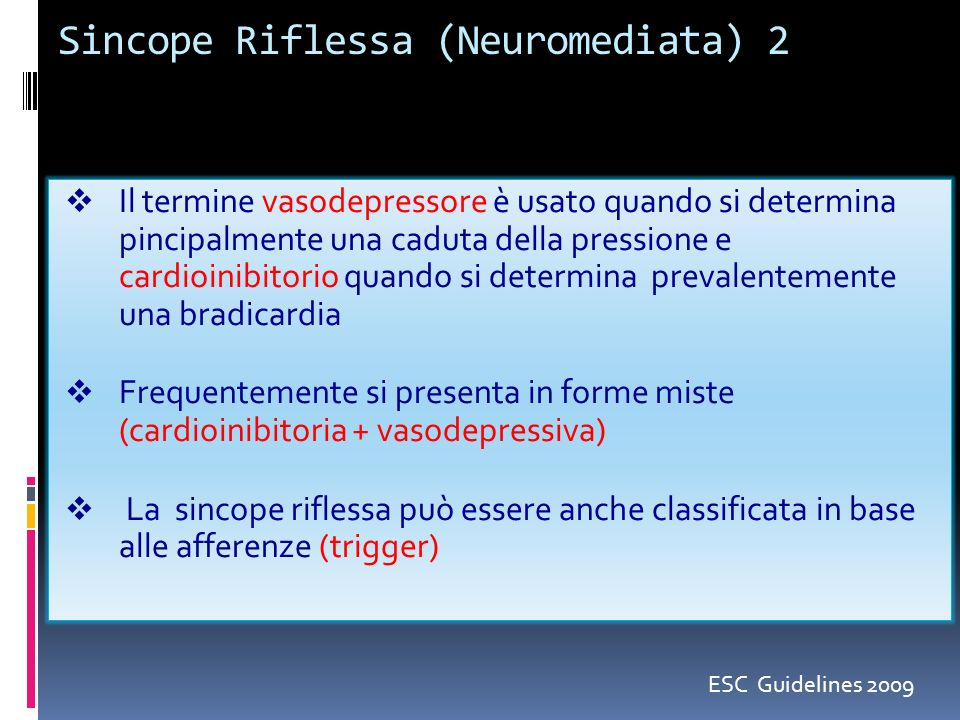 Sincope Riflessa (Neuromediata) 2