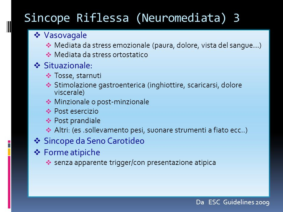 Sincope Riflessa (Neuromediata) 3