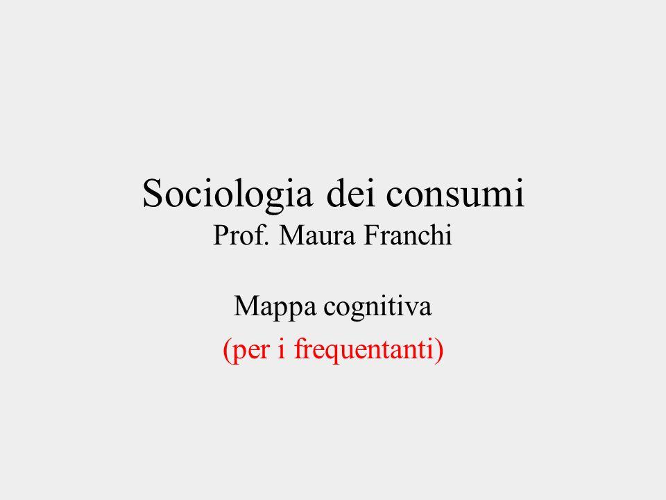 Sociologia dei consumi Prof. Maura Franchi