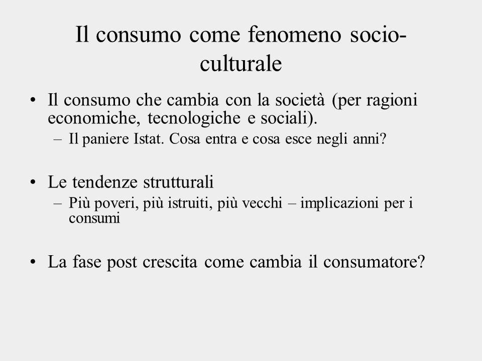 Il consumo come fenomeno socio-culturale