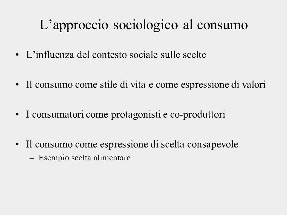 L'approccio sociologico al consumo