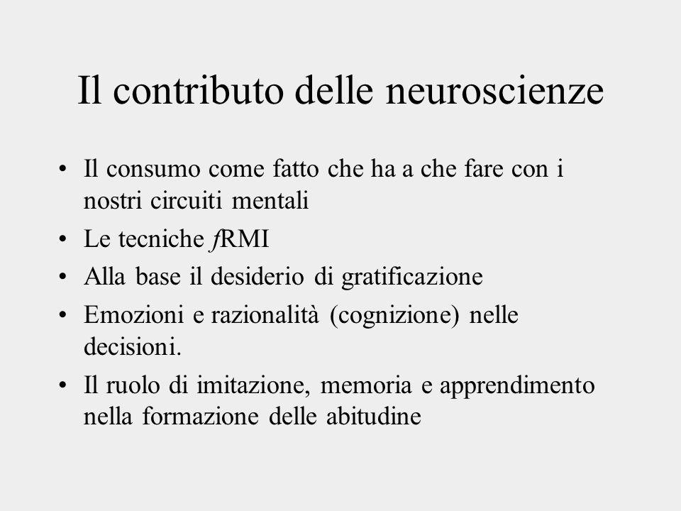 Il contributo delle neuroscienze