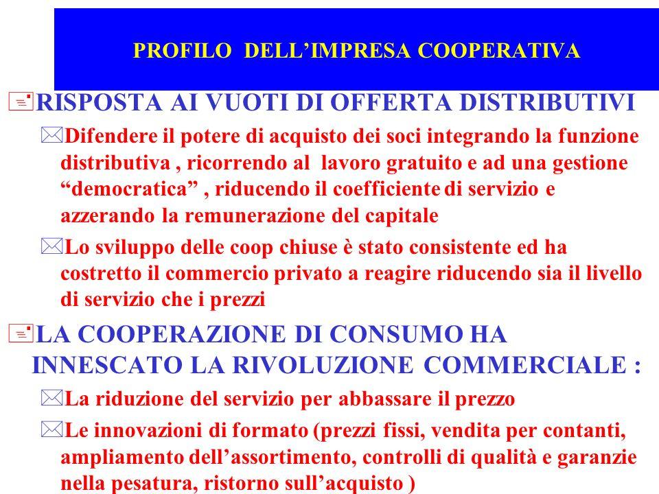 PROFILO DELL'IMPRESA COOPERATIVA