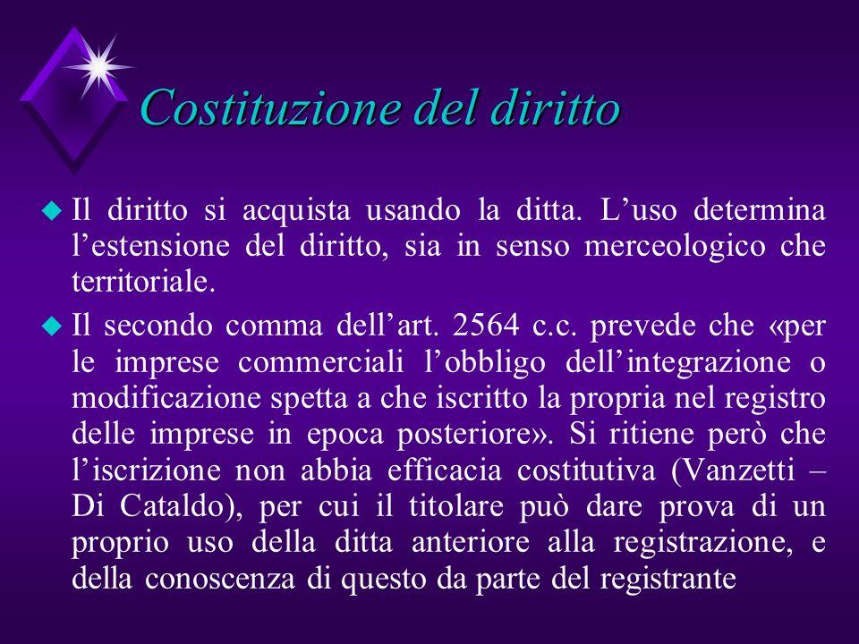 Costituzione del diritto