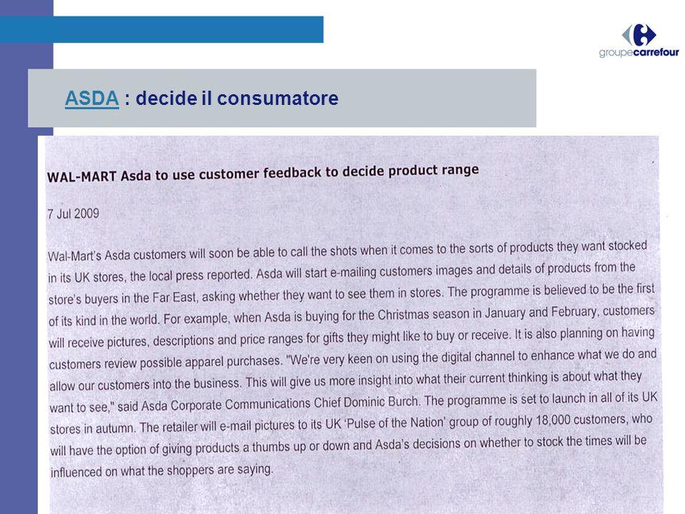ASDA : decide il consumatore