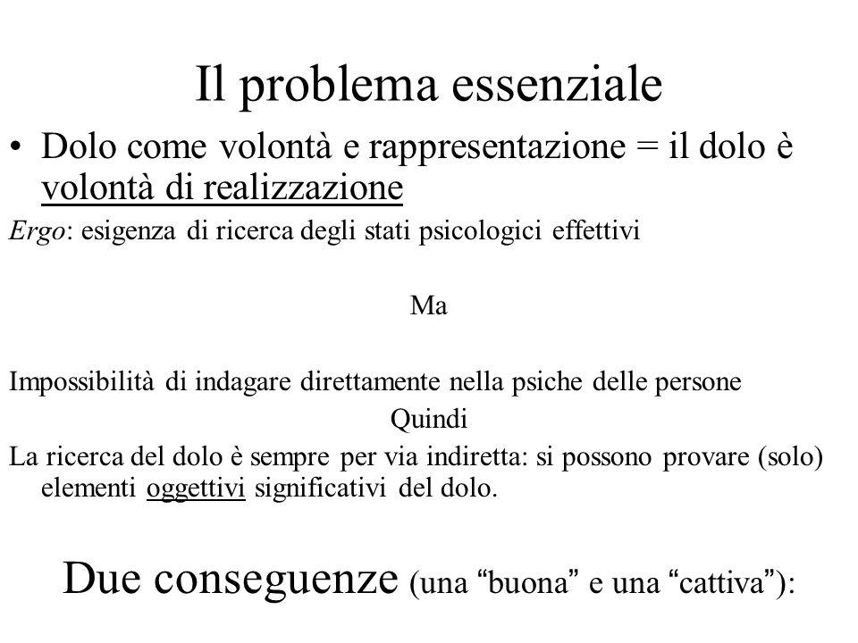 Il problema essenziale