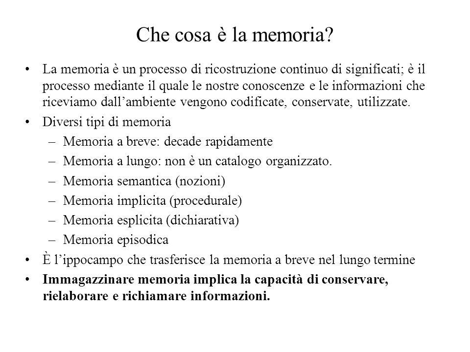 Che cosa è la memoria