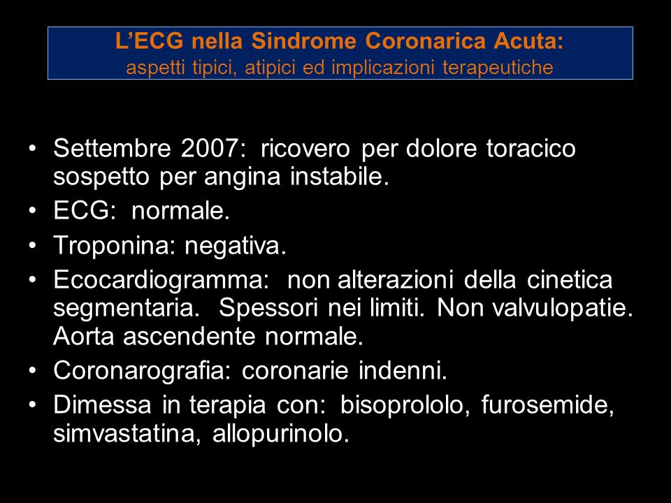 Coronarografia: coronarie indenni.