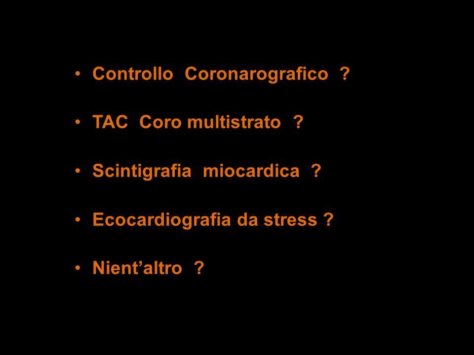 Controllo Coronarografico