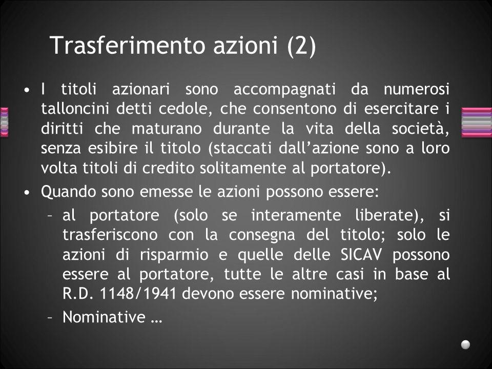 Trasferimento azioni (2)