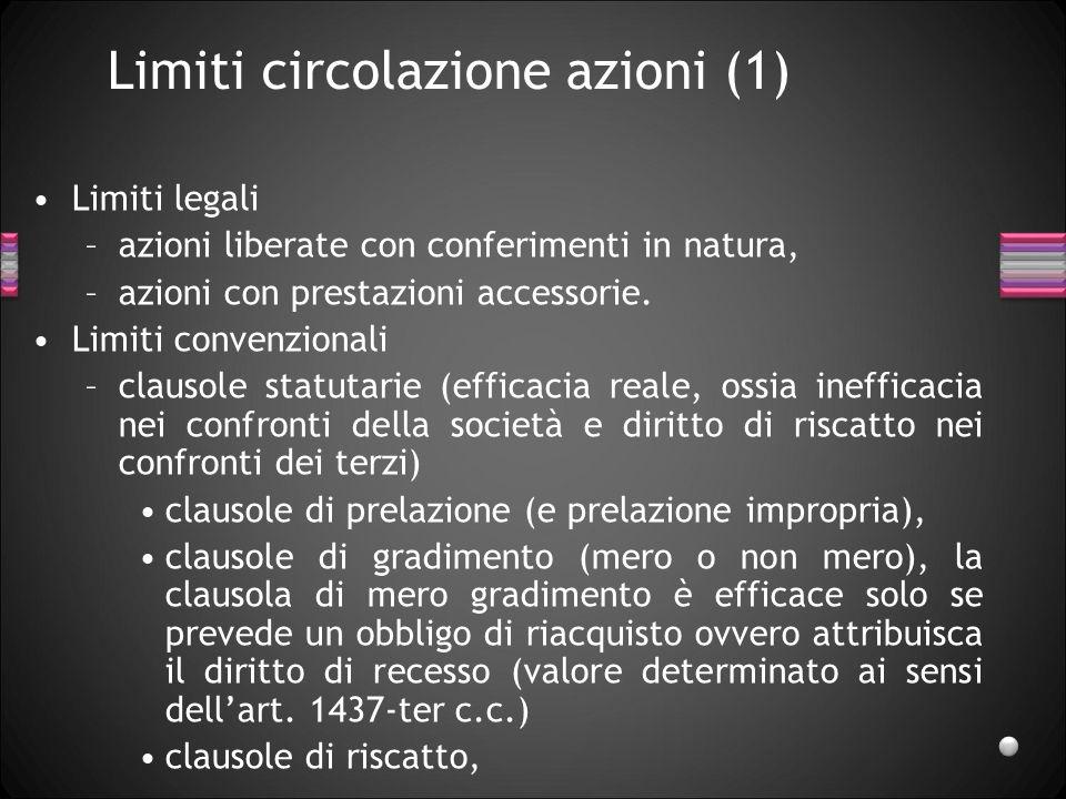 Limiti circolazione azioni (1)