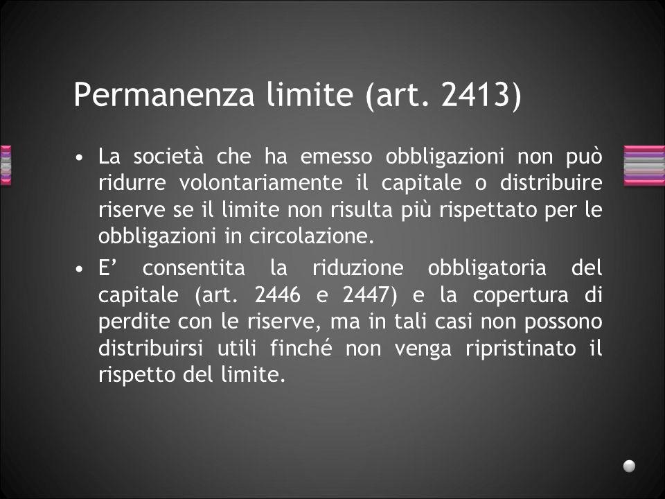 Permanenza limite (art. 2413)
