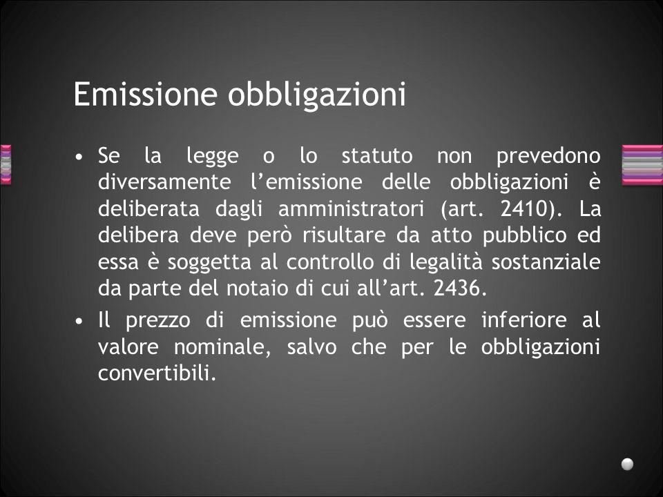 Emissione obbligazioni