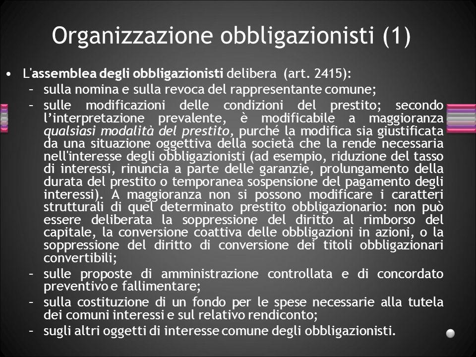 Organizzazione obbligazionisti (1)