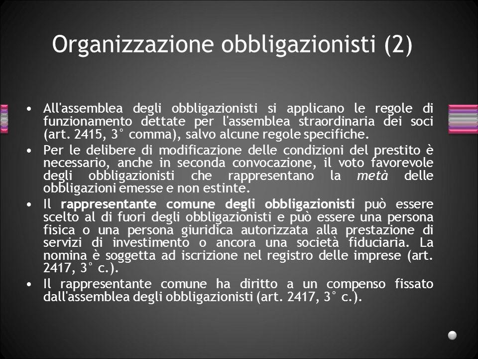 Organizzazione obbligazionisti (2)