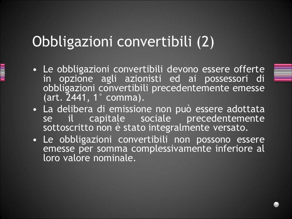 Obbligazioni convertibili (2)