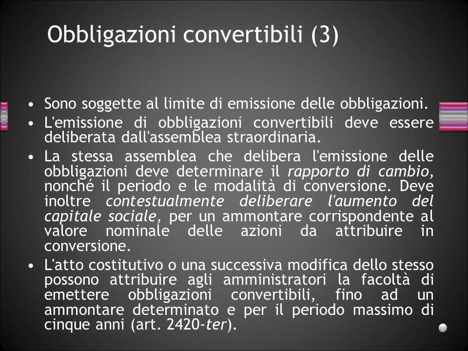 Obbligazioni convertibili (3)
