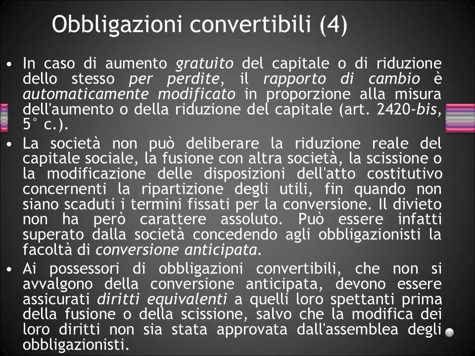 Obbligazioni convertibili (4)