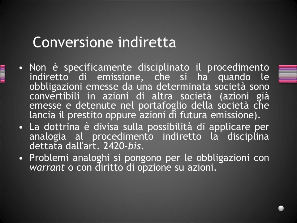 Conversione indiretta