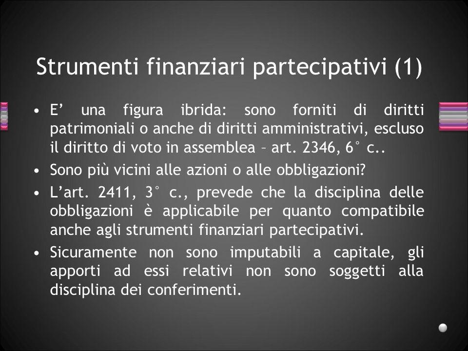 Strumenti finanziari partecipativi (1)