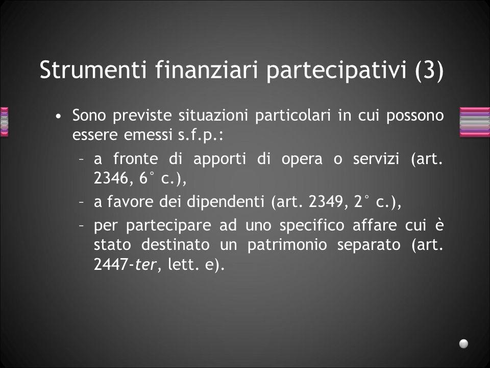Strumenti finanziari partecipativi (3)