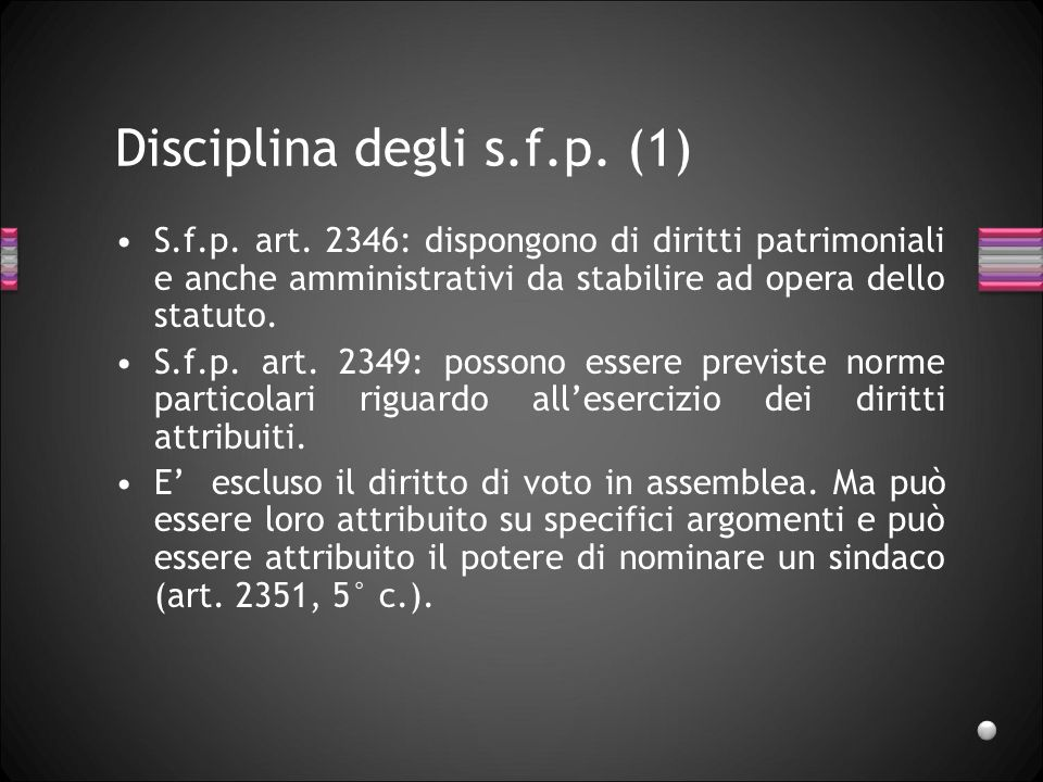 Disciplina degli s.f.p. (1)