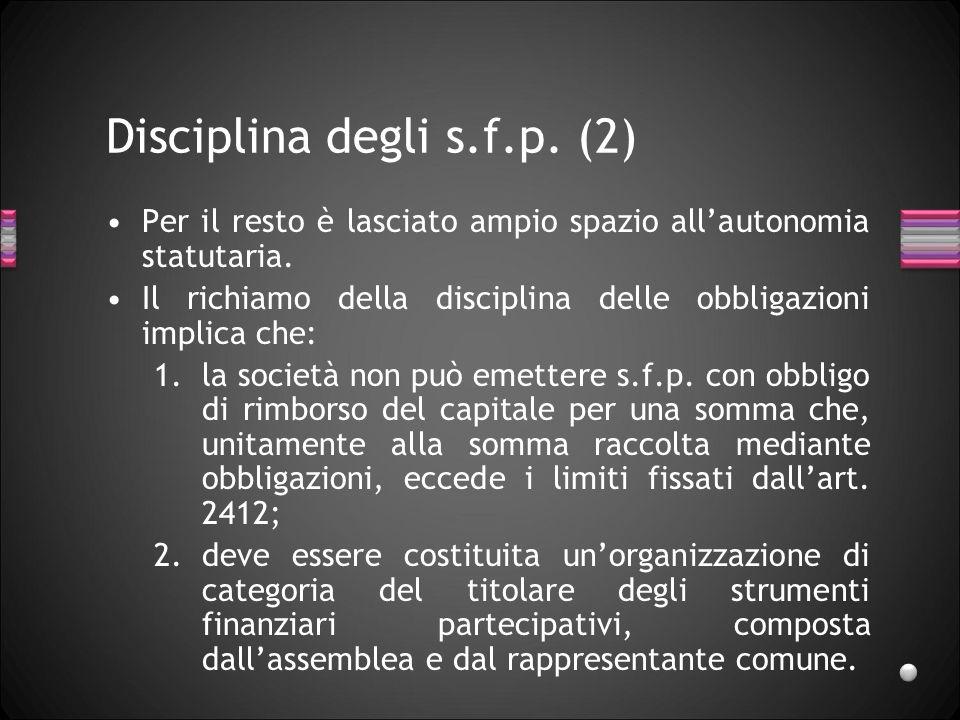 Disciplina degli s.f.p. (2)