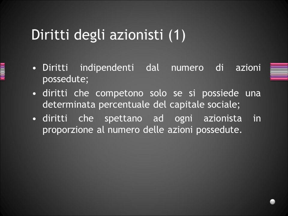 Diritti degli azionisti (1)