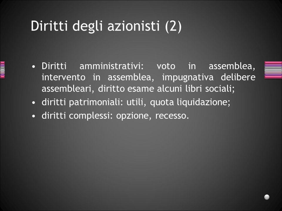 Diritti degli azionisti (2)
