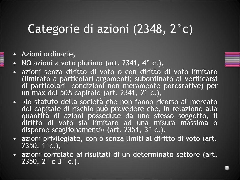 Categorie di azioni (2348, 2°c)