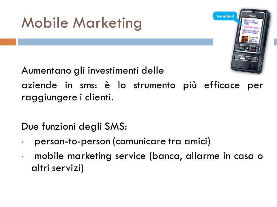 Mobile Marketing Aumentano gli investimenti delle