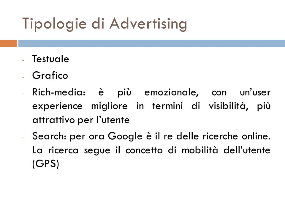 Tipologie di Advertising