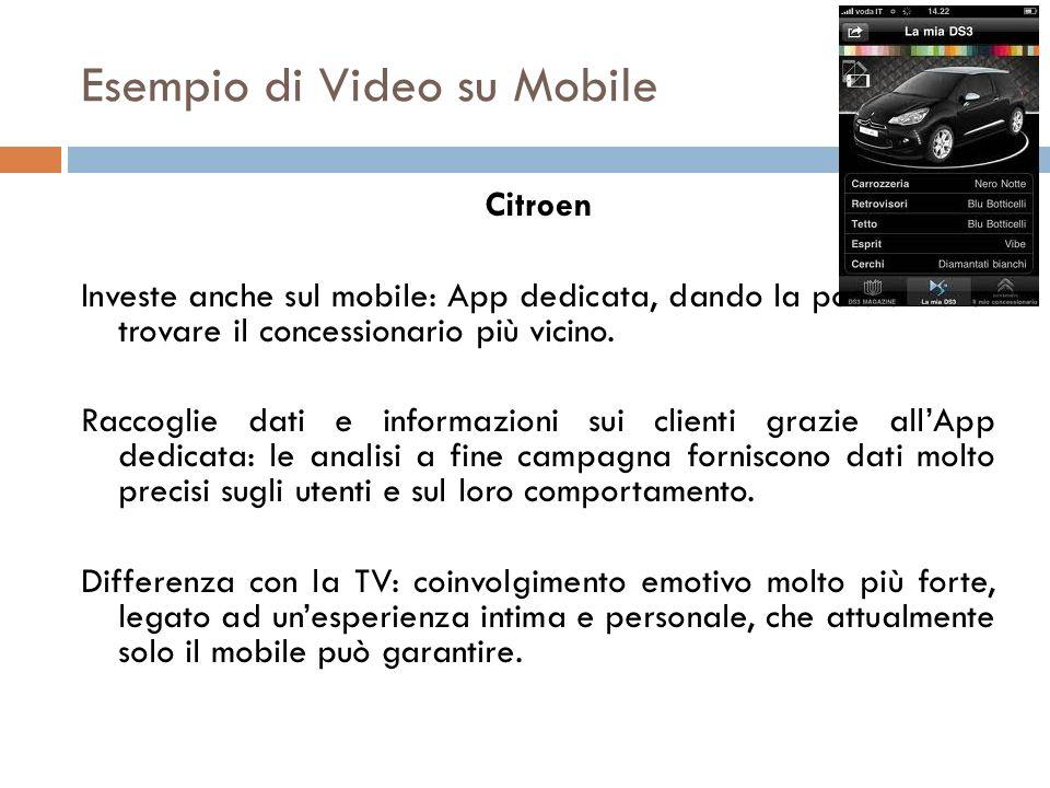 Esempio di Video su Mobile