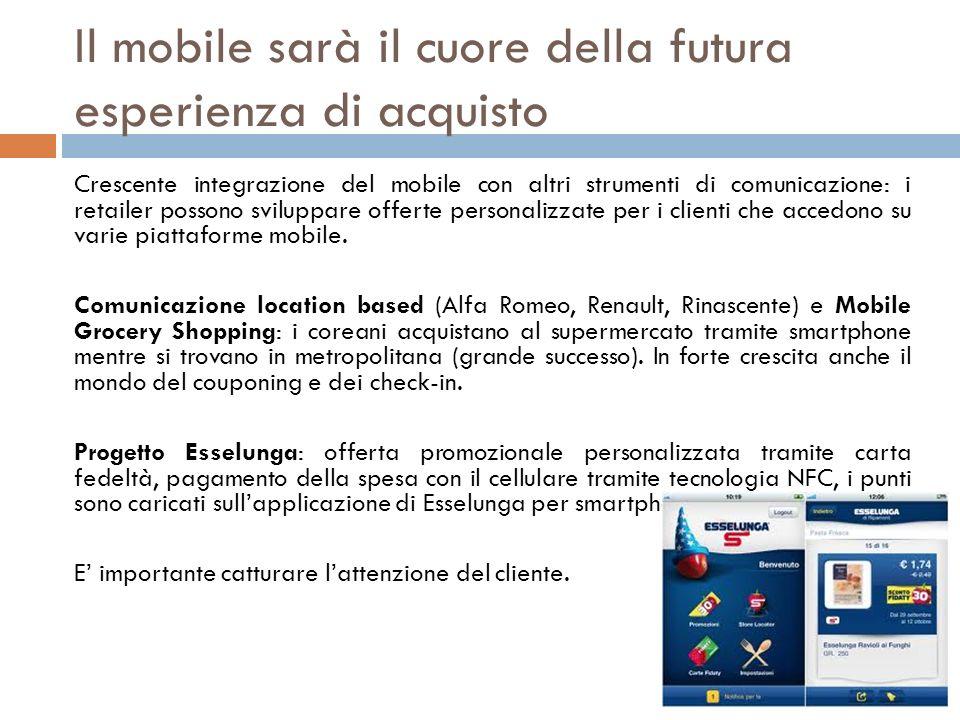 Il mobile sarà il cuore della futura esperienza di acquisto
