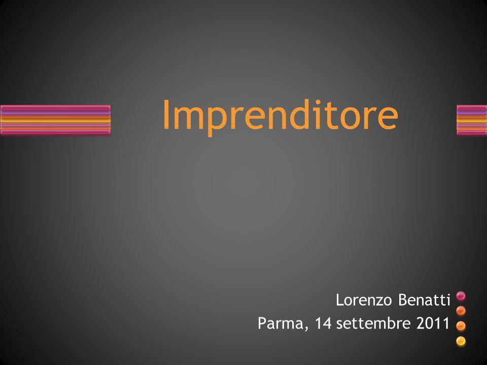 Lorenzo Benatti Parma, 14 settembre 2011