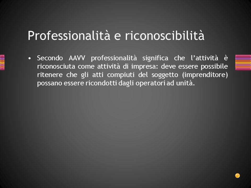 Professionalità e riconoscibilità