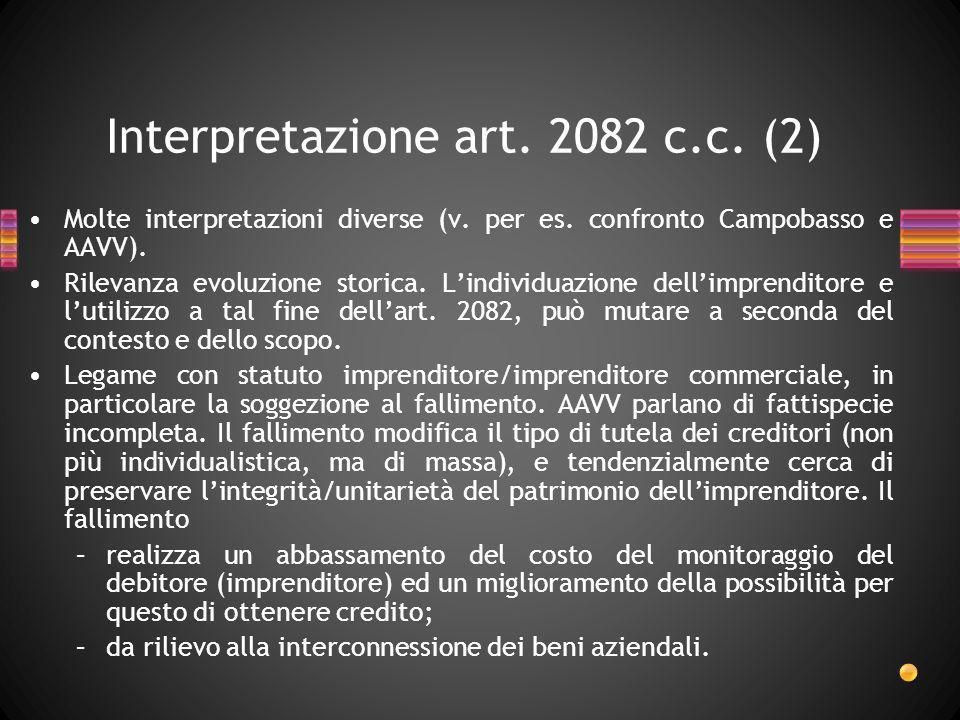 Interpretazione art. 2082 c.c. (2)