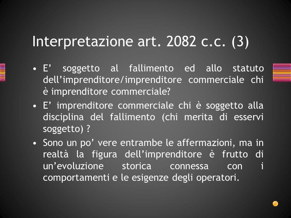 Interpretazione art. 2082 c.c. (3)