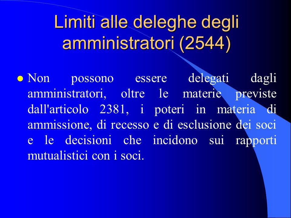 Limiti alle deleghe degli amministratori (2544)