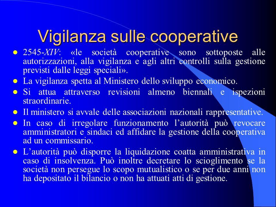 Vigilanza sulle cooperative