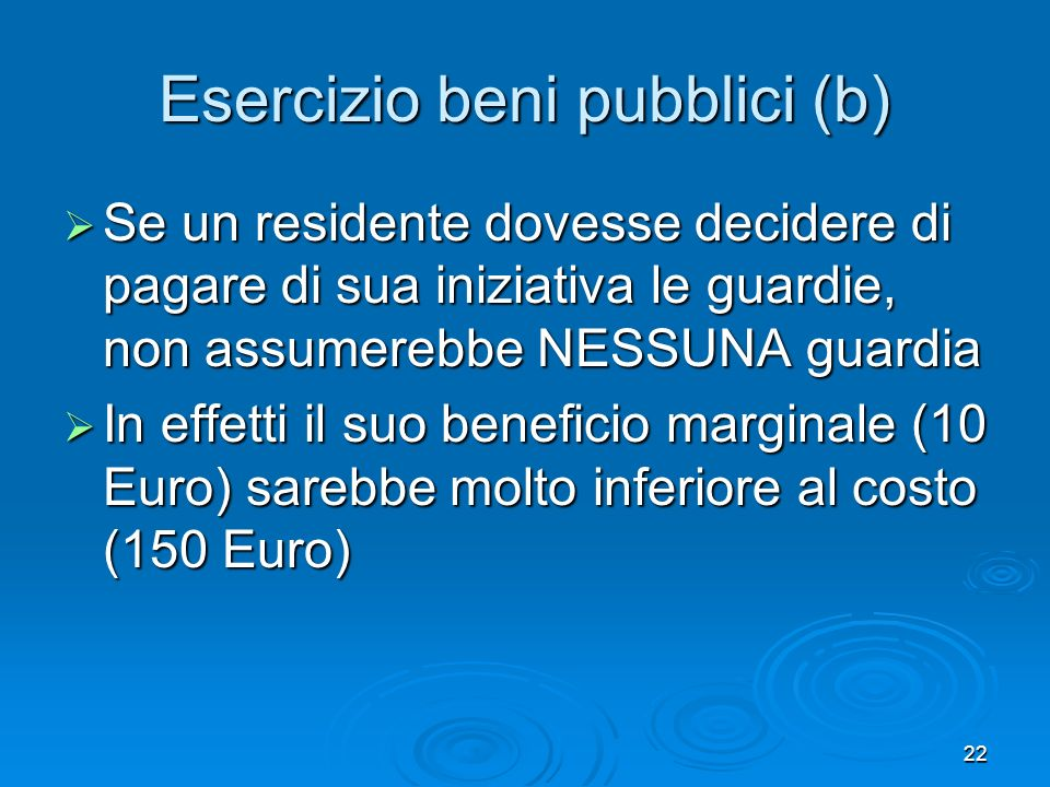 Esercizio beni pubblici (b)
