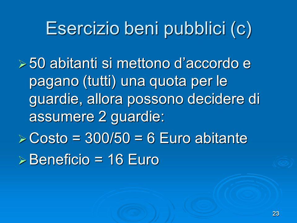 Esercizio beni pubblici (c)