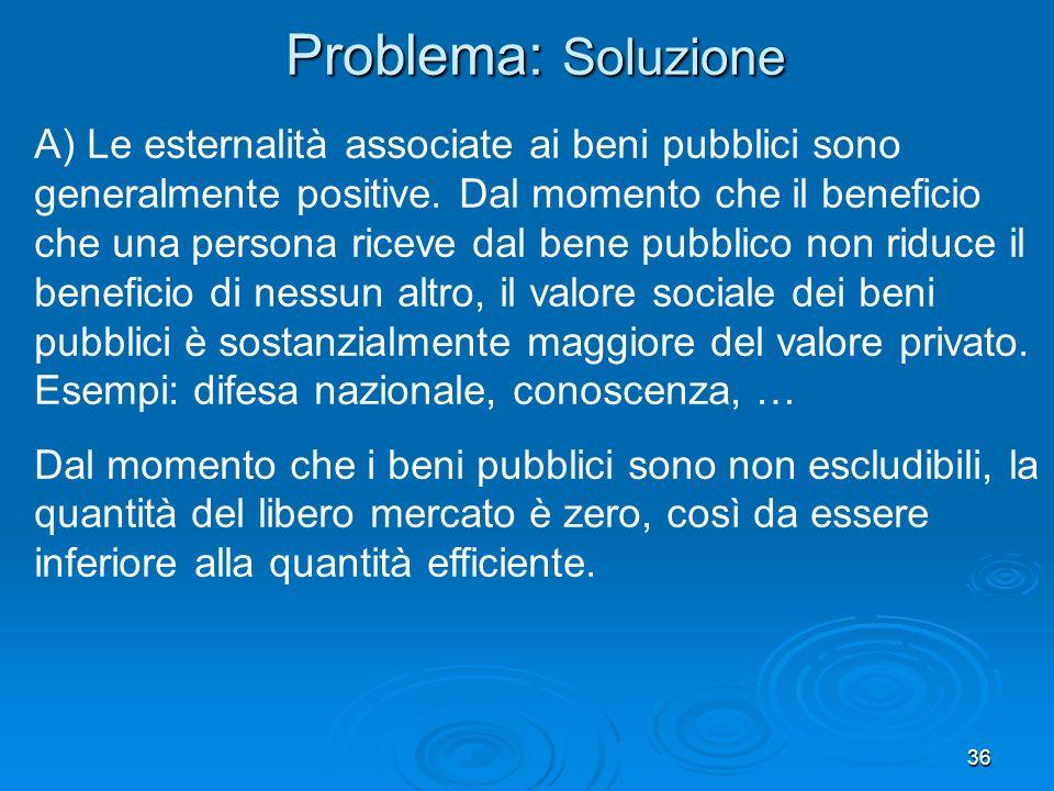 Problema: Soluzione