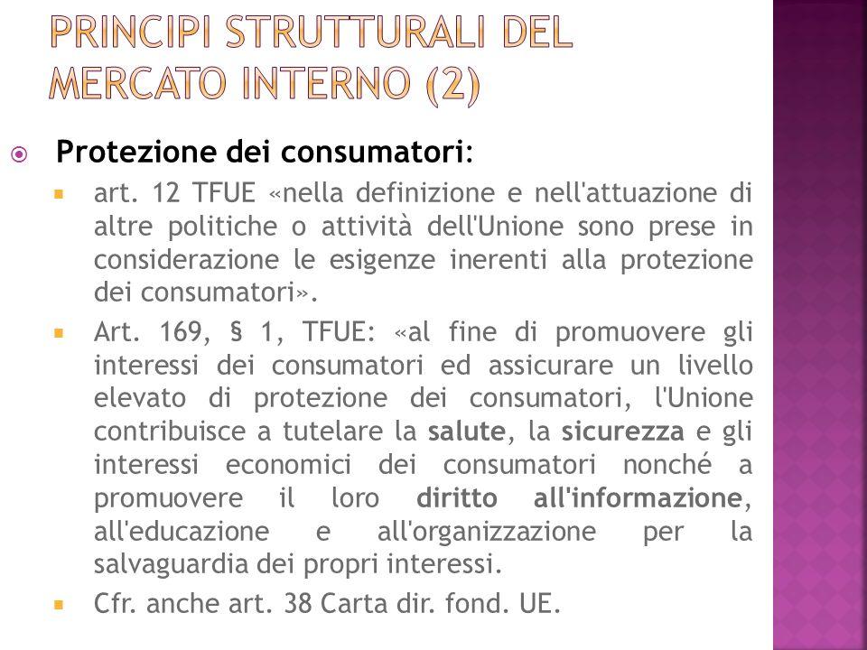 Principi strutturali del mercato interno (2)