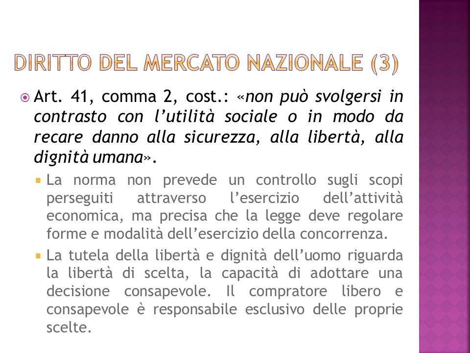 Diritto del mercato nazionale (3)